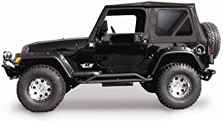 RAMPAGE PRODUCTS 68835 Complete Soft Top with Frame & Hardware for 1997-2006 Jeep Wrangler TJ, with Full Steel Doors (no Soft Upper Doors), Black Diamond w/Tinted Windows