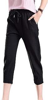 Pantalon Mujer Elegantes Pantalones Verano Largos Correas Cruzadas Color Solido Pantalones Palazzo Pantalon Lino Comodo Pantalones Yoga Mujer Aireado Especial Estilo