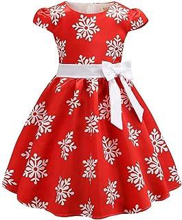 Burning Go 子供ドレス クリスマス ワンピース 雪柄 プリント 女の子 赤ちゃん お嬢様 プリンセス フォーマル ピアノ 発表会 結婚式 子どもドレス パーディー 衣装 仮装 クリスマス コスチューム