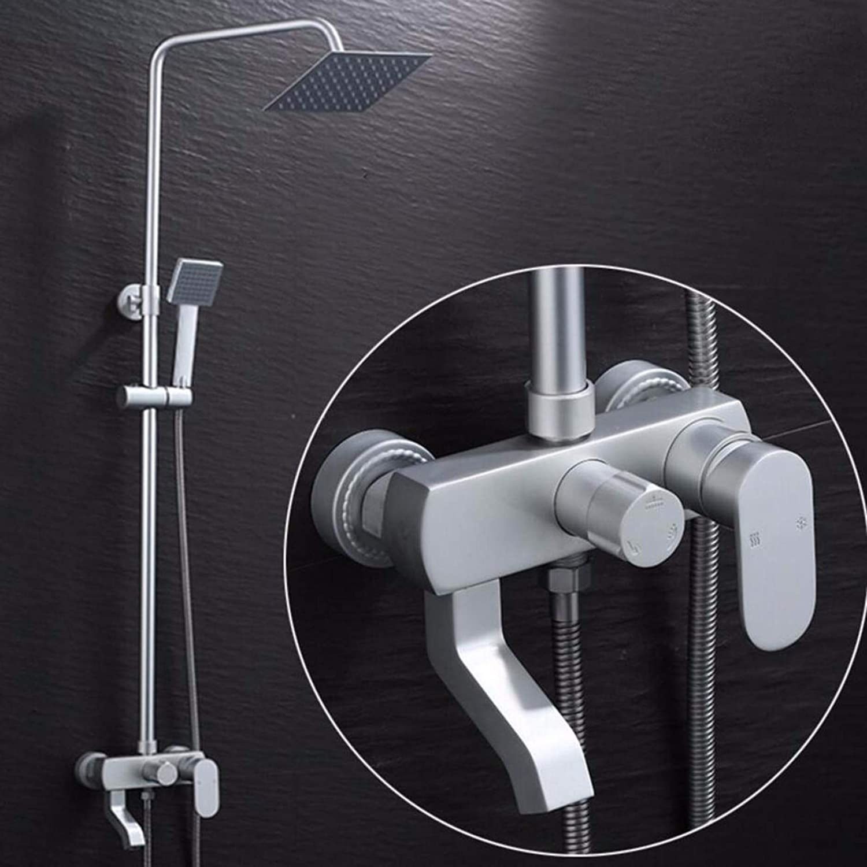 Shower set Bathroom Shower Shower Household Hot And Cold Space Aluminum Shower Shower Set