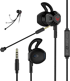 Gaming Headset Headphones with Adjustable Mic Wired in-Ear Headphones E-Sport Earphones for Nintendo Switch, Xbox One, PS4...