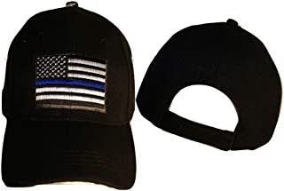 Infinity Superstore Thin Blue Line Patch USA Police Memorial Blue American Black Hat