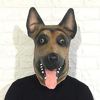 Rwdacfs Máscara Halloween,Lindo Perro Peluca Broma Tocado látex Halloween Props