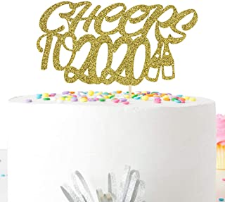 Glitter Cheers to 2020 Cake Topper with Beer Pattern-2020 New Years Eve Party Decorations Supplies
