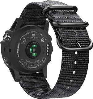 Fintie Band Compatible with Garmin Fenix 5X Plus/Fenix 3 HR Watch, Premium Woven Nylon Bands Adjustable Replacement Strap ...