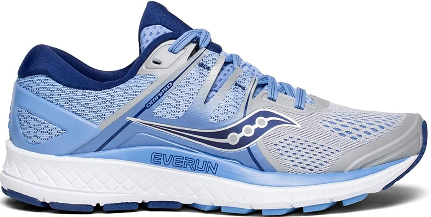 Saucony Women's Omni ISO D Running shoes (SAU-S10443 4166330 6 (1) Silver bluee Navy)