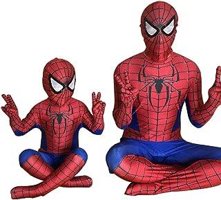 スパイダーマン 全身タイツ 弾力と伸縮性あり ライクラ 赤 子供用 大人用 100-110cm コスチューム コスプレ衣装  仮装 変装 誕生日 プレゼント ハロウィン イベント