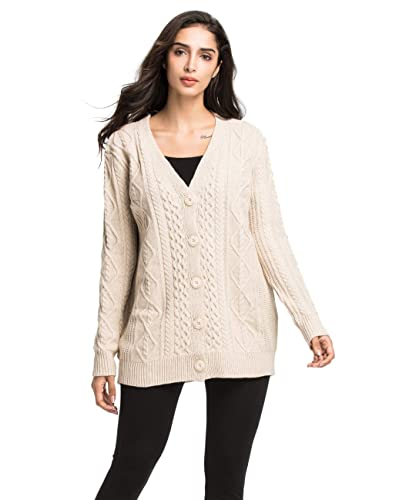 Oversized Cable Knit Sweater  Amazon.com 2dd1a8e91