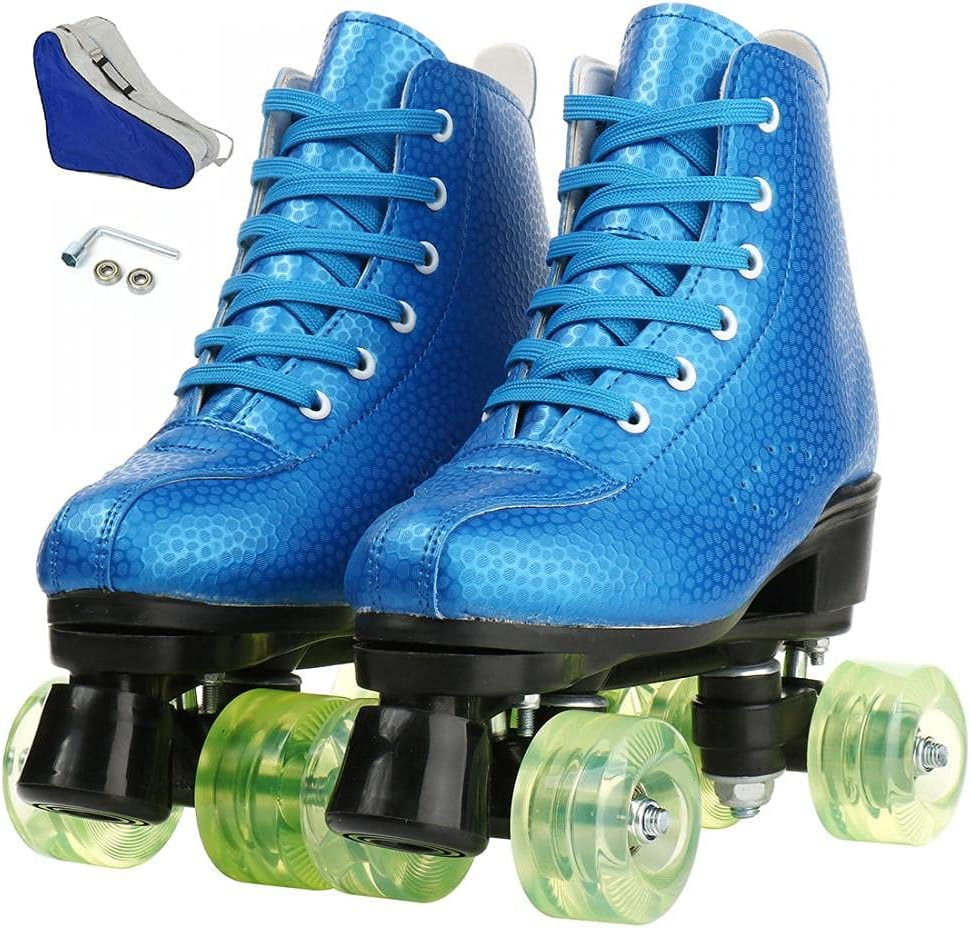 Unisex Roller Skates Sales for Weekly update sale PU Four-Whee High-top Leather