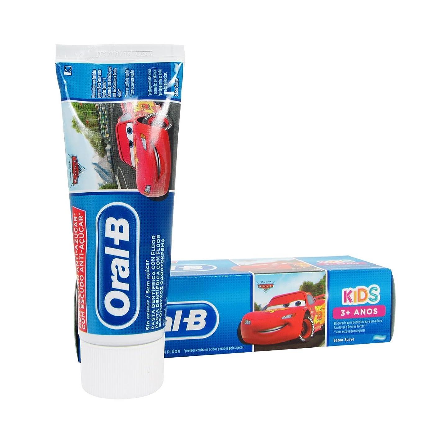 郡控えめな適切にOral B Kids Cars Children's Toothpaste 75ml [並行輸入品]