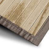 casa pura Bambusteppich Magenta (Natur) | für Bad und Wohnzimmer | natürlich wohnen Bambus | Bambusmatte in vielen Größen (90x120 cm)