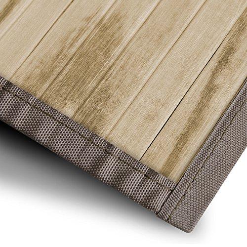 casa pura Bambusteppich Magenta (Natur) | für Bad und Wohnzimmer | natürlich wohnen Bambus | Bambusmatte in vielen Größen (160x230 cm)