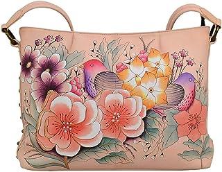 Hobo Handbag | Genuine Leather | Vintage Garden