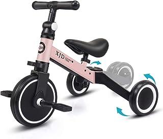 XJD 3-i-1 barn trehjulingar för 1-3 år gammal småbarn trike baby balanscykel 3 hjul pojkar flickor uppgradering 2.0 (ljusr...