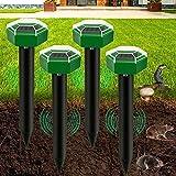 repellente solare per talpe,ip65 impermeabile repellente ad ultrasuoni solare per talpe,mole repellent 4 pezzi,repellente ad energia solare,scaccia talpe solare per giardino anti-talpe y serpent