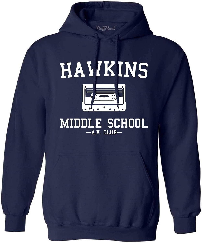 NuffSaid Hawkins Rare Middle School AV Club At the price of surprise Hooded Hoodie Sweatshir