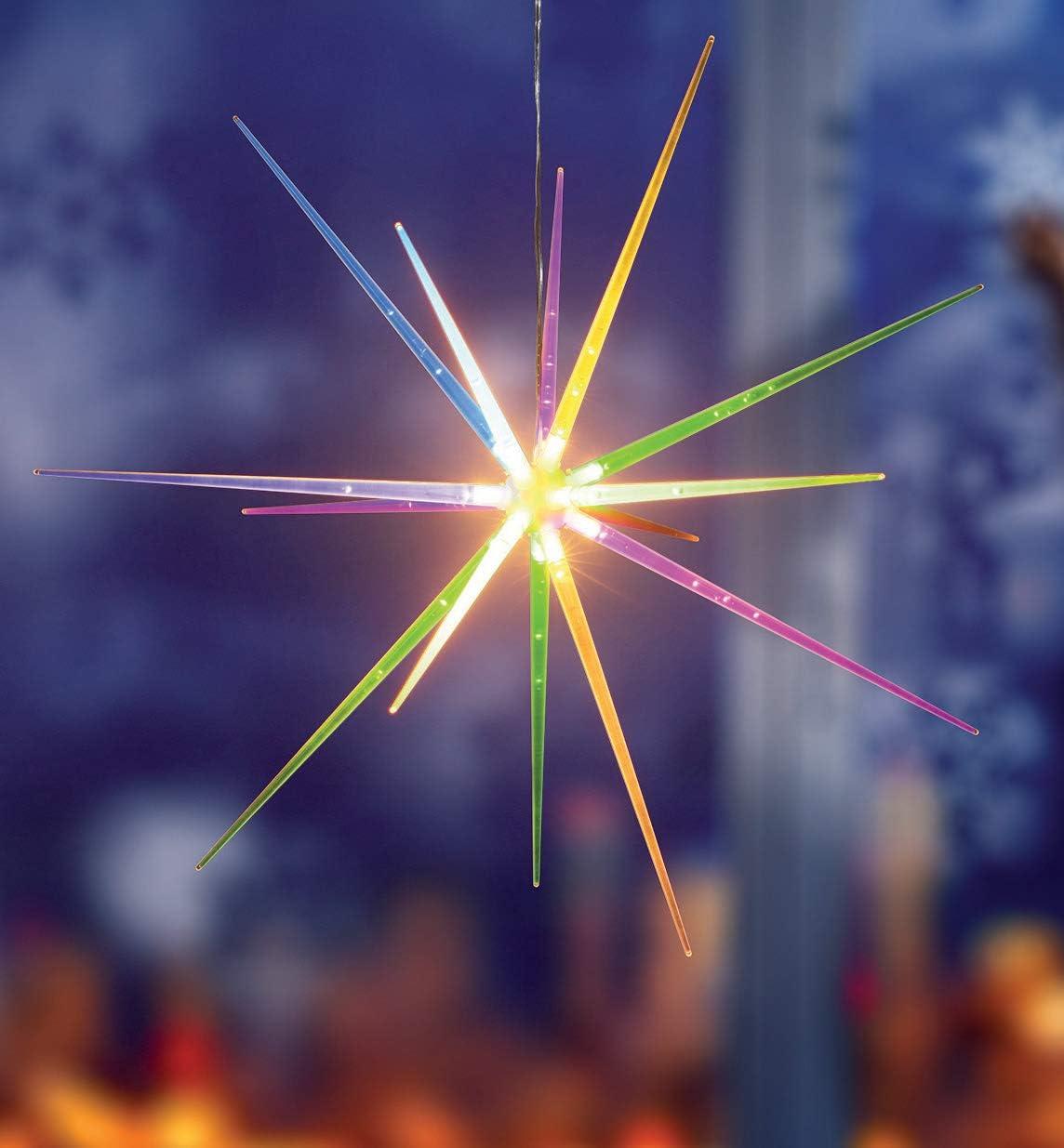 3 LED Bodenleuchten Star Sterne Timer Außen Innen Multicolor Deko Beleuchtet