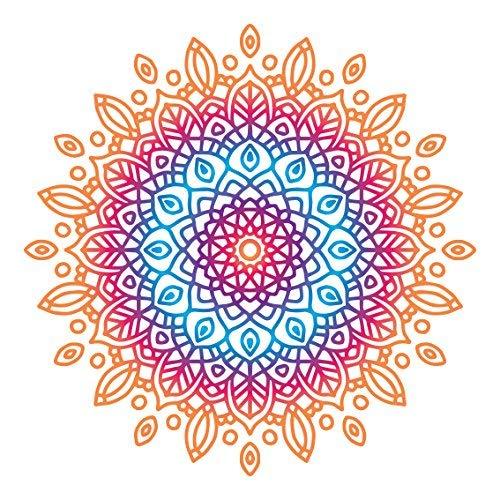 Lsmaa Kleurrijke Mandala Design Sticker | Laptop, Auto, Koelkast, Muursticker