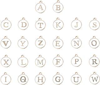 Healifty Ciondoli Lettera Dellalfabeto Ciondoli Fai-da-Te Branelli Allentati Fissati per Gioielli Collana Braccialetto Che Fanno Accessorio 26 Pezzi