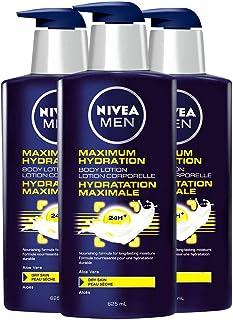 Nivea Men Body Lotion, Maximum Hydration, Nourishing Formula for Long Lasting Moisture with Aloe Vera, Great for Dry Skin,...