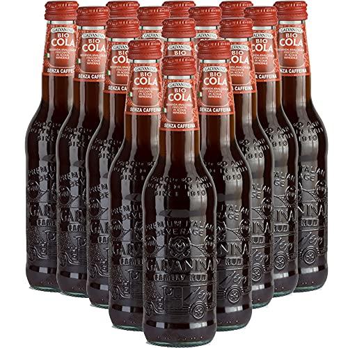 Cola Bio   Galvanina   12 Bottiglie in Vetro Scolpito   355 Ml   Eccellenza Italiana   Soft Drink   Bibita Biologica   Ingredienti per Cocktail