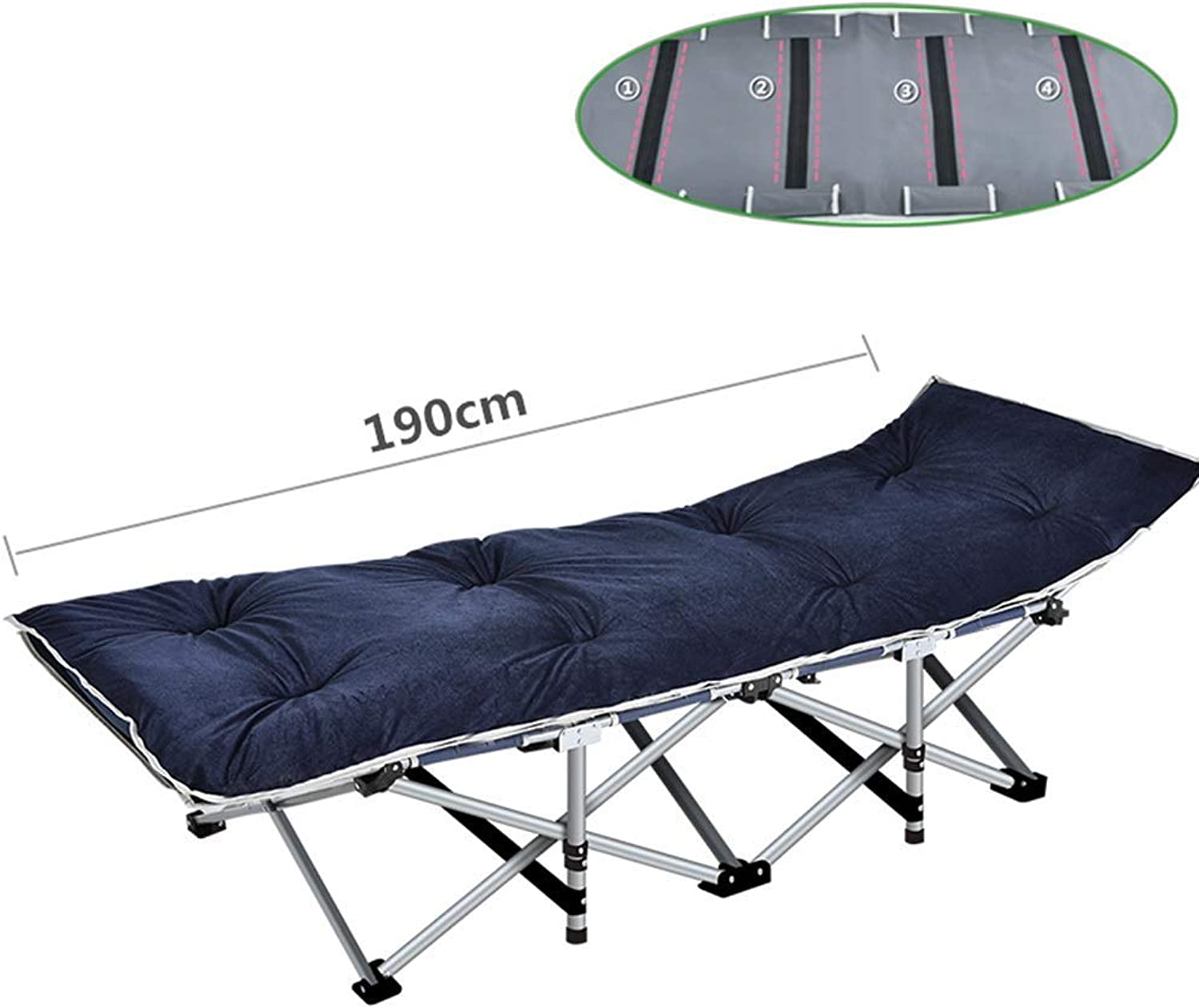 Recliners Heavy Duty Folding Camping Cot Bed with Cushions, Portable Bed for Adults Kids, Sun Lounger with Carry Bag for Camping Home Office, Support 400kg