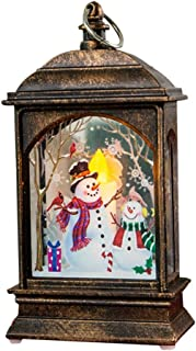 Shan-S 2Pcs Christmas Glowing Cottage Led Fireplace Light, Christmas Cabin Xmas Santa Claus Snowman Elk House Glowing LED Lights Bulb for Christmas Party Outdoor Decor Ornament