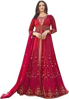 Muslim Women Wear Jacket Style Salwar Kameez Suit Indian Ethnic 7396