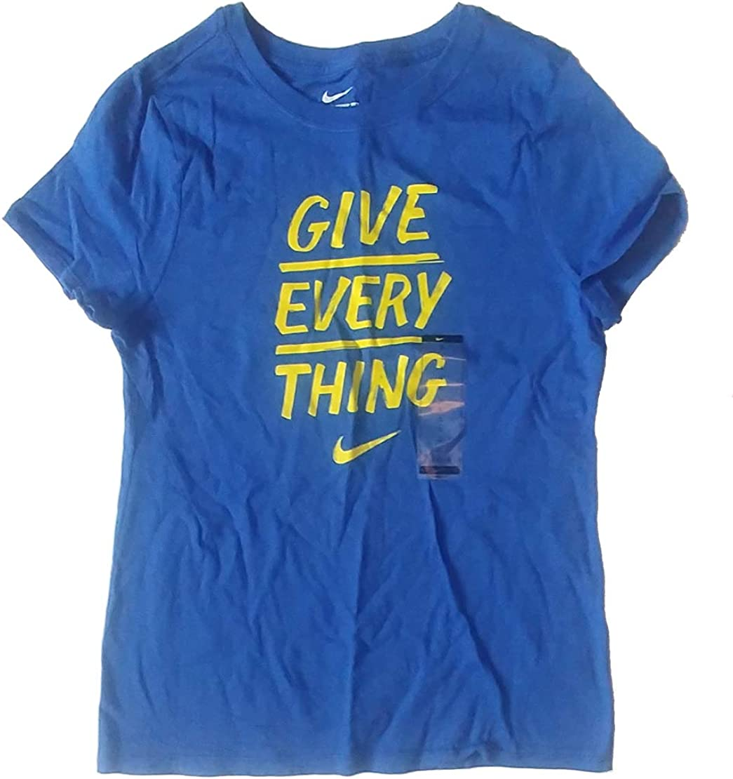 Nike Girls Give Everything T-Shirt Low price 495 BQ1951 Swoosh Free shipping anywhere in the nation