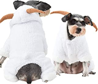 Yu-Xiang Dog Stereo Little Goat Costume Pet Four-Legged Clothes Fall and Winter Onesies Farm Style for Halloween Christmas...