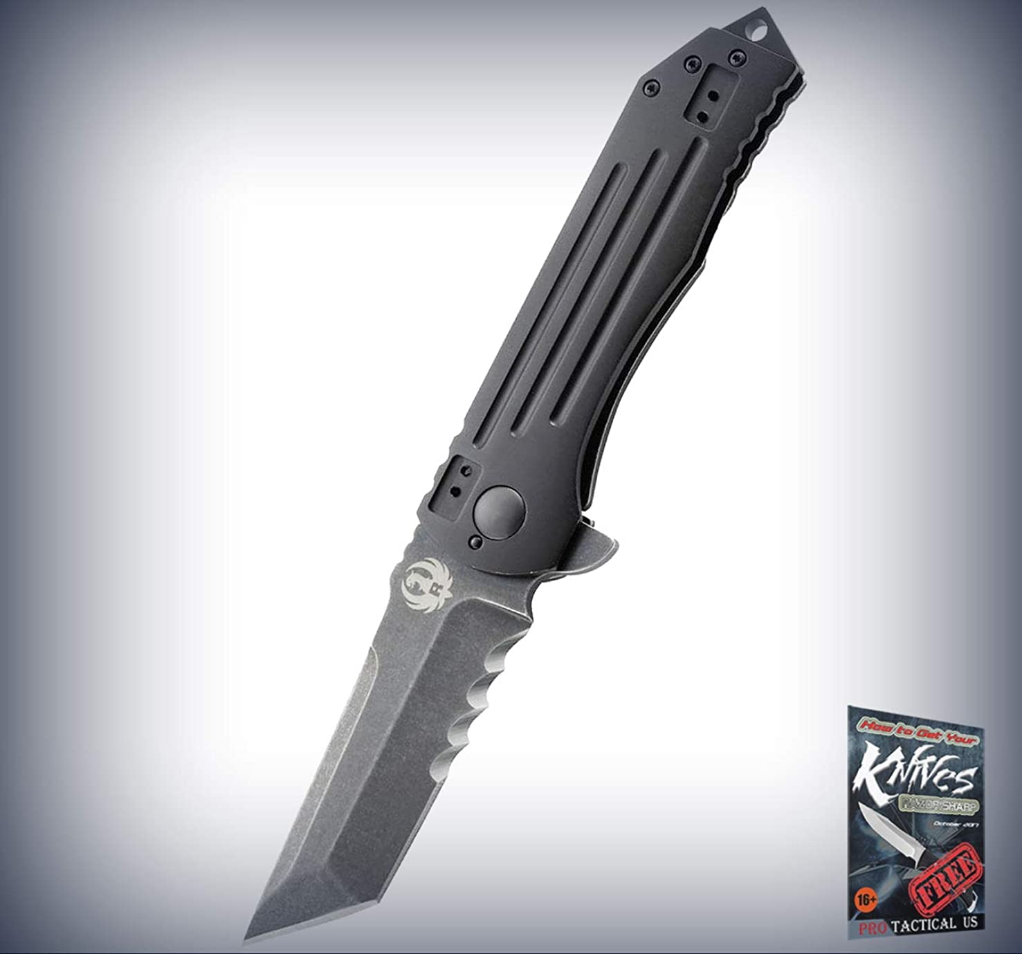 New Ruger 2-Stage Framelock Veff BLK Stonewash Folding Tanto Blade Pro Tactical Elite Knife K for Home Camping Hunting Rescue + free Ebook by ProTactical