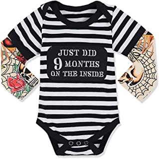 Baby Boy Clothes Tattoo Sleeve Mama's Boy Letter Print...