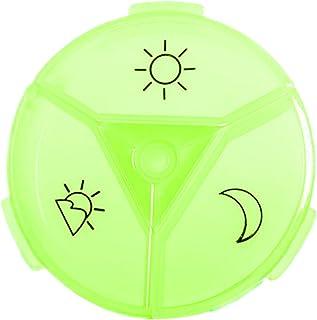 joyMerit Boîte à Pilules de Voyage Boîte de Rangement pour Tablette - vert