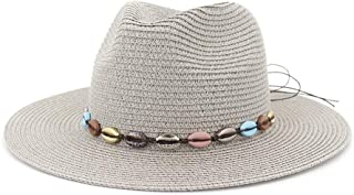 Sun Hat for men and women Straw Summer Sun Hat Women Men Fedoras Hat Colorful Shell Retro Fashion Beach Hat Party Lady Sombrero Panama Straw Hat