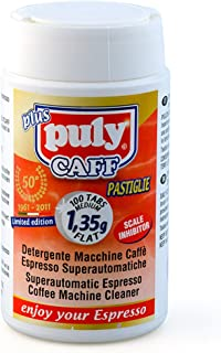 Puly Caff Coffee Machine Cleaning Tablets Medium 1.35g x 100 Flat Plus Puly