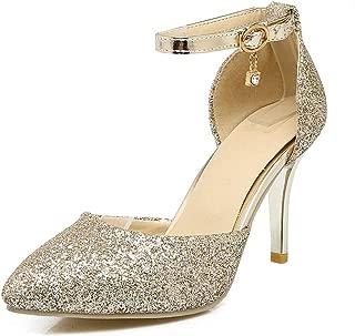 BalaMasa Womens ASL06115 Pu Heeled Sandals