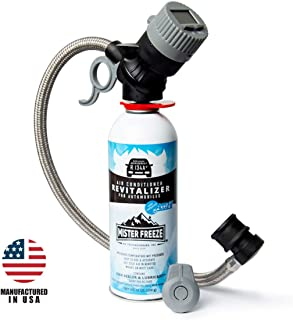 Mr Freeze Car AC Recharge Kit and Leak Sealer with r134a Refrigerant and Wireless Digital Temperature Sensor - Recharge Your Car's AC System Yourself with AccuFill Technology - 14oz