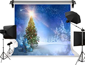 Kate 10x6.5ft/3m(W) x2m(H) Holiday Winter Photography Backdrops Christmas Tree Background Cedar Blue Sky Background Children Photo Studio Christmas Backdrops