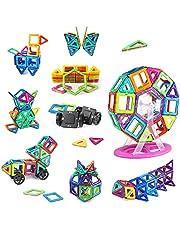 Juguetes de Construcción 3D 100 Pieces Juegos Educativos para Niños con Ruedas und Rueda de la Fortuna, Regalo de Cumpleaños con Bolsa de Almacenamiento para Niños de 3 4 5 6 7 8 Años