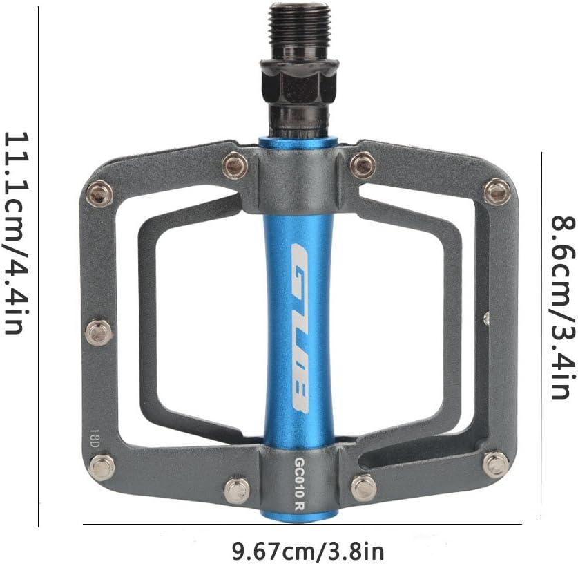 oueaen P/édale de v/élo GUB 1 Paire de p/édales de Cyclisme Plates en Alliage daluminium pour Accessoire de VTT