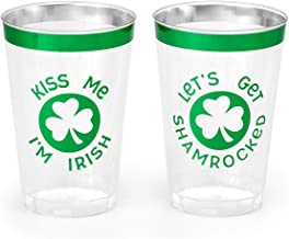 xo, Fetti St Patricks Day Decorations Cups - 30 count, 12 oz | Lets Get Shamrocked, Kiss Me I'm Irish Disposable Drinkware...