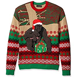Blizzard Bay Men's Ugly Christmas Sweater Gorillas 2 Festive and numerous patterns just right for the season Made with a soft knit for a comfortable and easy fit
