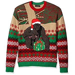 Blizzard Bay Men's Ugly Christmas Sweater Gorillas