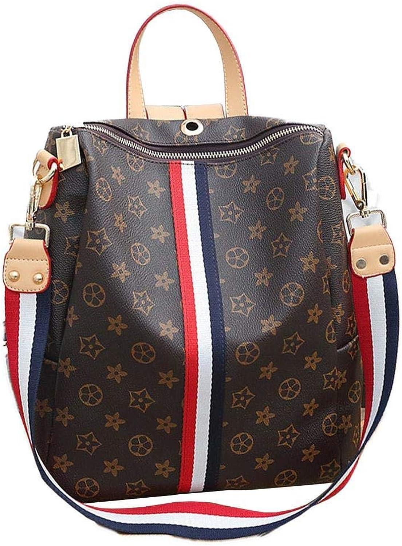 Damen Leder Daypacks Verschleifest Printing Schulrucksack Gro Patchwork Backpack Portable Jungs Schulranzen Vintage Haltbar Rucksack