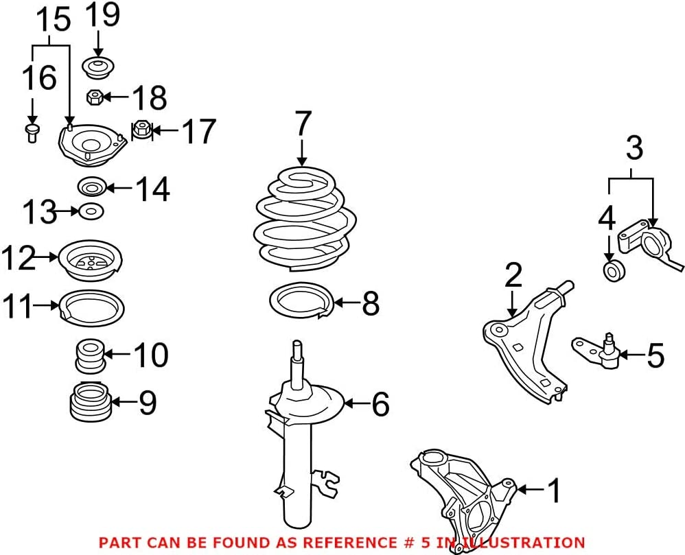 Genuine OEM Front Passenger Right Max 74% OFF Reservation Ball For Joint Mini Suspension