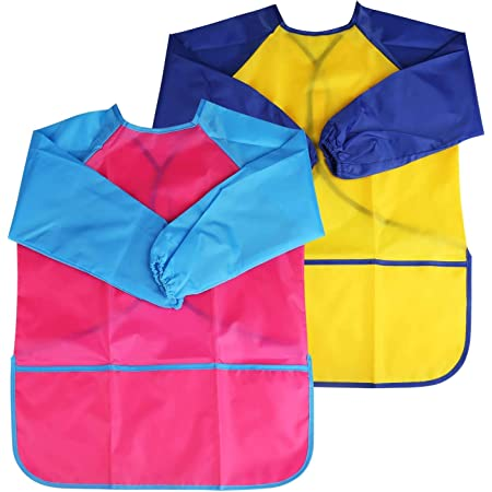 Cooking Painting Smock Age 8-10 Children/'s Waterproof Play Apron Baking