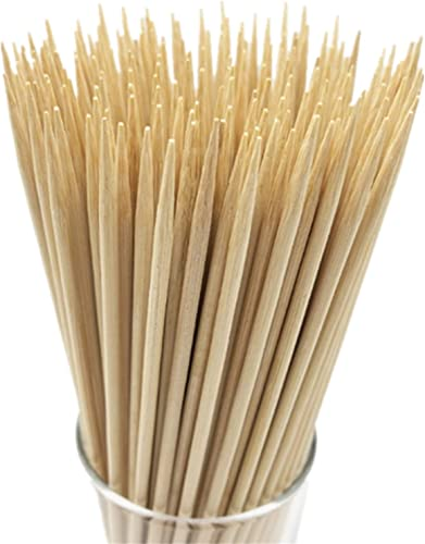 """HOPELF-12""""-Natural-Bamboo-Skewers-for-BBQ"""