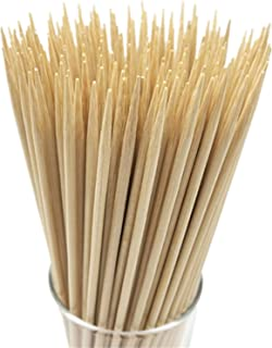 "HOPELF 8"" Natural Bamboo Skewers for BBQ,Appetiser,Fruit,Cocktail,Kabob,Chocolate Fountain,Grilling,Barbecue,Kitchen,Craft..."