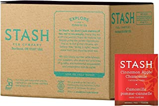Stash Tea Cinnamon Apple Chamomile Herbal Tea 100 Count Tea Bags in Foil (packaging may vary) Individual Spiced Herbal Tea...