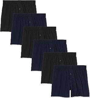 FM London Men's Loose Fit Comfort Boxer Shorts (Pack of 6)